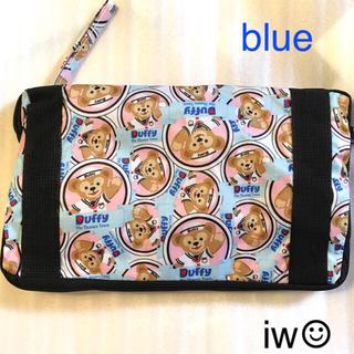 Disney - ダッフィー ブルー ボストンバッグ キャリーオンバッグ 収納バッグ