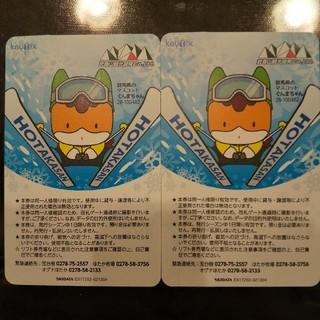 宝台樹スキー場 リフト券(ウィンタースポーツ)