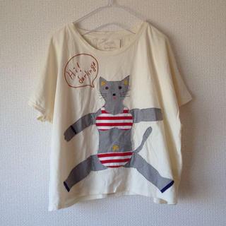 アトリエドゥサボン(l'atelier du savon)のにゃんこ☆ゆったりTシャツAMBIDEX(Tシャツ(長袖/七分))
