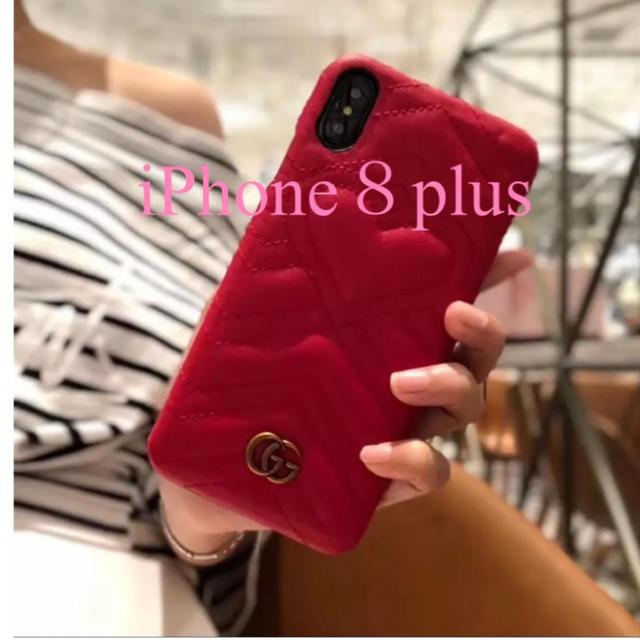 iphone7 ケース 人気 芸能人 | Gucci - iPhone 8plusケース  GG ハート   赤の通販 by ukoyu's shop|グッチならラクマ