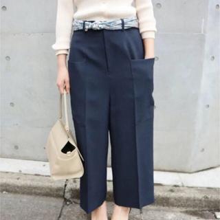 IENA - 【美品】IENA シャンブレートロデザインパンツ ネイビー