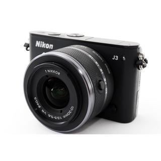 ニコン(Nikon)の★WiFiカードでスマホに写真転送★ニコン J3 ブラック レンズキット(ミラーレス一眼)