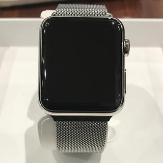 Apple Watch - (純正品) Apple Watch 初代 42mm ステンレス シルバー