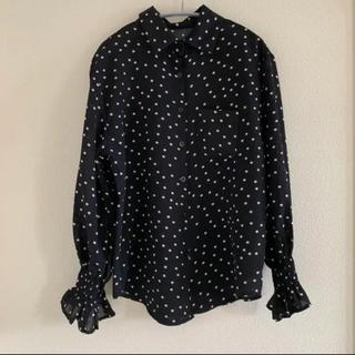 リエンダ(rienda)のシャーリング ドットシャツ(シャツ/ブラウス(長袖/七分))