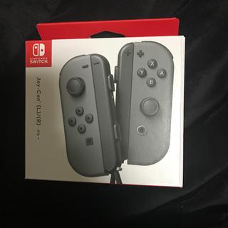 ニンテンドースイッチ(Nintendo Switch)の未使用 ジョイコン Joy-Con グレー(その他)