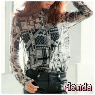 リエンダ(rienda)の【新品】rienda♡バティックプリントシャツ(シャツ/ブラウス(長袖/七分))