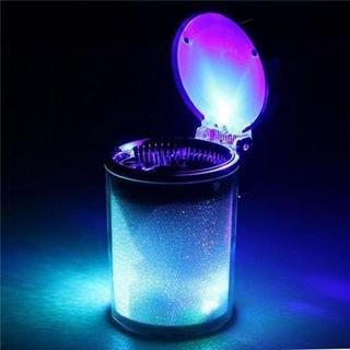 【人気★沸騰】車用 灰皿 七色LEDライト(ごみ箱)