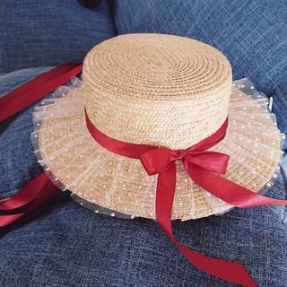 モンリリィ(mon Lily)のmonlily 麦わら帽子 カンカン帽 / アンクルージュ リズリサ系統(麦わら帽子/ストローハット)