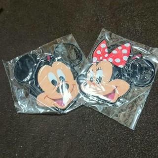 ディズニー(Disney)のディズニー パスケース ラゲッジタグ ミッキー ミニー 2つセット(名刺入れ/定期入れ)