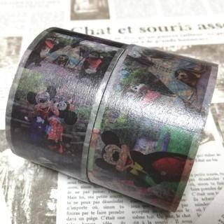 ディズニー(Disney)のディズニー 縦 横 実写 写真 マスキングテープ マステ ディズニーリゾート(テープ/マスキングテープ)