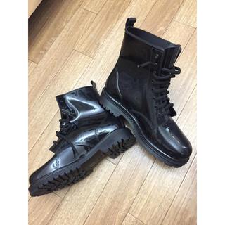 レインブーツ 黒い ブーツ(レインブーツ/長靴)