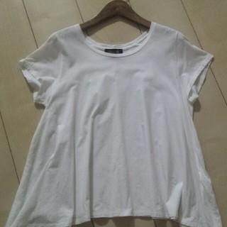 ドゥロワー(Drawer)のドゥロワーロゴ入りフレアーTシャツ(Tシャツ(半袖/袖なし))
