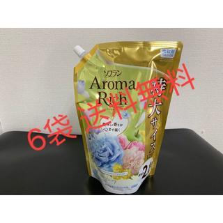 ソフラン アロマリッチ 柔軟剤(ウォータリーフラワーアロマの香り) x6(洗剤/柔軟剤)