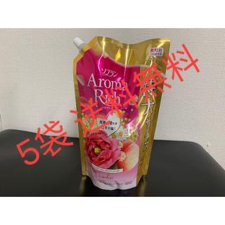 ソフラン 柔軟剤 (ハッピーフルーティの香り) 詰め替え 1210ml×5個(洗剤/柔軟剤)