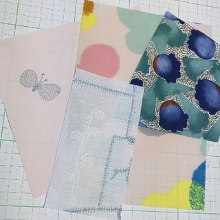 mina perhonen - choucho garden patchwork ミナペルホネン 刺繍 はぎれ