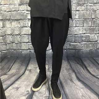 サルエルパンツ メンズ S〜2XL 黒 ワイド ガチョウパンツ AM012(サルエルパンツ)