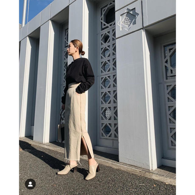 Shel'tter ORIGINAL(シェルターオリジナル)のRIM.ARK side zipper denim skirt レディースのスカート(ロングスカート)の商品写真