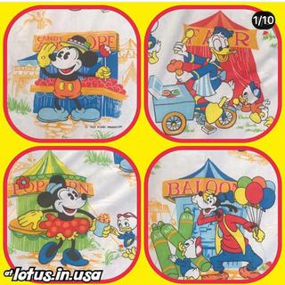 ディズニー(Disney)のミッキー  ミニー ビンテージ フラットシーツ 生地680(生地/糸)