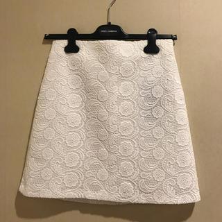 ザラ(ZARA)のZARA*新品 レース台形スカート(ミニスカート)