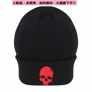 即購入OK♪新品♬Coolドクロ♪ニット帽(ドクロマークレッド)♬(ニット帽/ビーニー)