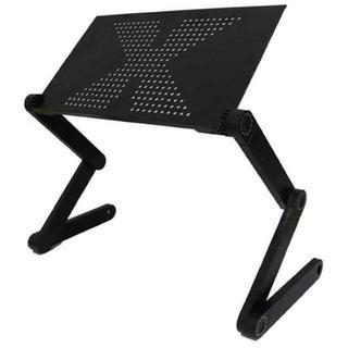 【人気★沸騰】パソコンスタンド ノートPC 折り畳み式 360度調節(オフィス/パソコンデスク)