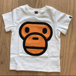 アベイシングエイプ(A BATHING APE)の【新品】ベビー90cm ボアマイロフェイスTシャツ(Tシャツ/カットソー)