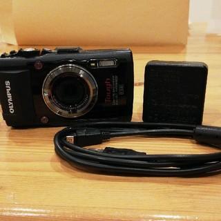 オリンパス(OLYMPUS)のOLYMPUSTG 3 デジカメラ 防水 黒色(コンパクトデジタルカメラ)