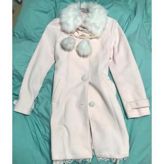 リズリサ(LIZ LISA)のLIZ LISA ピンクのコート(ロングコート)