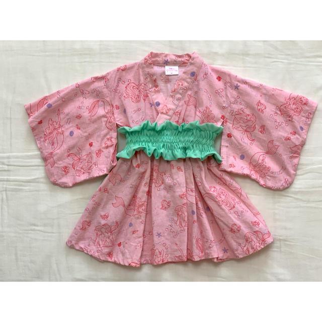 しまむら(シマムラ)のリトルマーメード アリエル 浴衣ドレス 90 キッズ/ベビー/マタニティのキッズ服 女の子用(90cm~)(甚平/浴衣)の商品写真