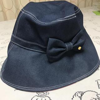 BURBERRY BLUE LABEL - 新品タグ付き♡ブルーレーベルクレストブリッジ デニム帽子