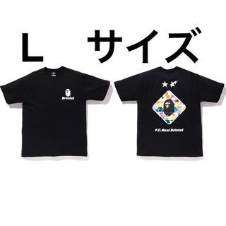 アベイシングエイプ(A BATHING APE)の黒 L BAPE x F.C.R.B. BACK EMBLEM TEE(Tシャツ/カットソー(半袖/袖なし))