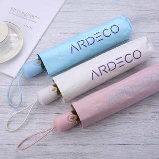 ARDECO 折りたたみ 日傘 晴雨兼用ワンタッチ自動開閉 ピンク(傘)
