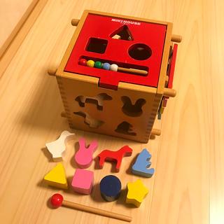 mikihouse - ミキハウス mikihouse 積み木 木製 パズル 型はめ