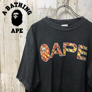 アベイシングエイプ(A BATHING APE)の【激レア】A BATHING APE エイプ ビックロゴ  Tシャツ L(Tシャツ/カットソー(半袖/袖なし))