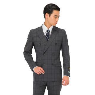 パーフェクトスーツファクトリー P.S.FA ダブルブレストスーツ グレー 新品