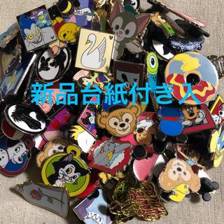 ディズニー(Disney)の新品台紙付入‼︎海外 ディズニー ピンバッジ 100個 ピンバッチ ピントレ(バッジ/ピンバッジ)