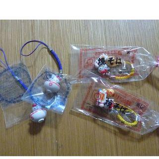 ハローキティ(ハローキティ)の東洋水産 キティちゃんコラボ 根付 2×2(ストラップ/イヤホンジャック)