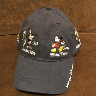 ディズニー(Disney)の海外 ディズニー 限定 ミッキー 歴代 刺繍 刺しゅう キャップ 帽子 ネイビー(キャップ)