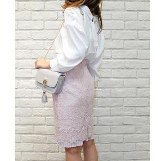 リランドチュール(Rirandture)のリランドチュール ♡裾プリーツレーススカート♡(ひざ丈スカート)