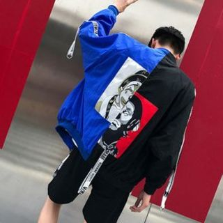 ピエロジャケットXXL/青・黒 / ユニセックス(ナイロンジャケット)