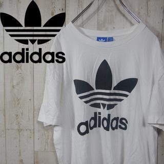 adidas - アディダス ビッグロゴ 90s トレフォイルロゴ Tシャツ XO ホワイト