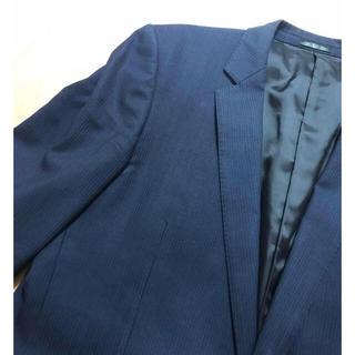 セレクト(SELECT)のスーツ ジャケット 美品 黒 ネイビー 紺 スーツセレクト ストライプ(スーツジャケット)
