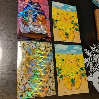 ディズニー(Disney)のプーさん ティンカーベル わんわん物語 ディズニー ステッカー ポストカード(シール)