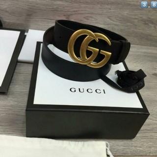 グッチ(Gucci)のGUCCIレザーベルトダプルGゴルードプラック(ベルト)
