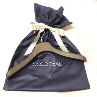 ココディール(COCO DEAL)の新品 非売品 COCODEAL ノベルティー 特製ハンガー(ノベルティグッズ)