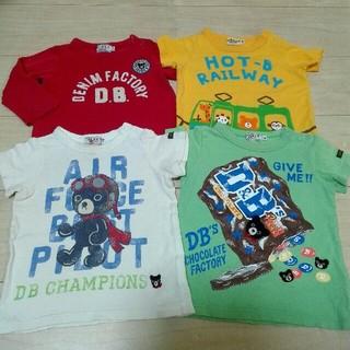 ダブルビー(DOUBLE.B)のミキハウス◆お得!トップス4点福袋◆80センチ(Tシャツ)