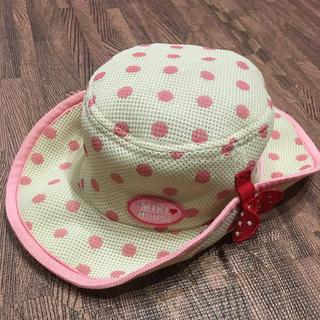 ミキハウス(mikihouse)の美品 ミキハウス テンガロンハット 52 女の子帽子(帽子)