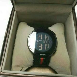 Gucci - GUCCIゲッチ近未来的デジタルウォッチ可動品です時計