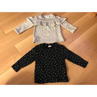 シマムラ(しまむら)の女の子 トップス 長袖 80cm まとめ売り(シャツ/カットソー)