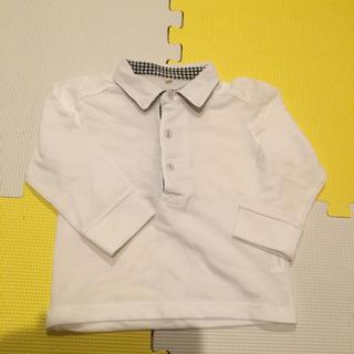 ニシマツヤ(西松屋)の西松屋 長袖 白ポロシャツ 90 フォーマル(ドレス/フォーマル)